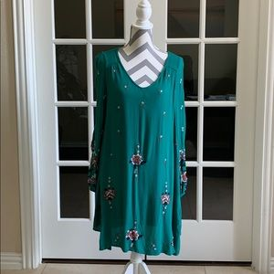 BWT Free People Oxford Embroidered Dress